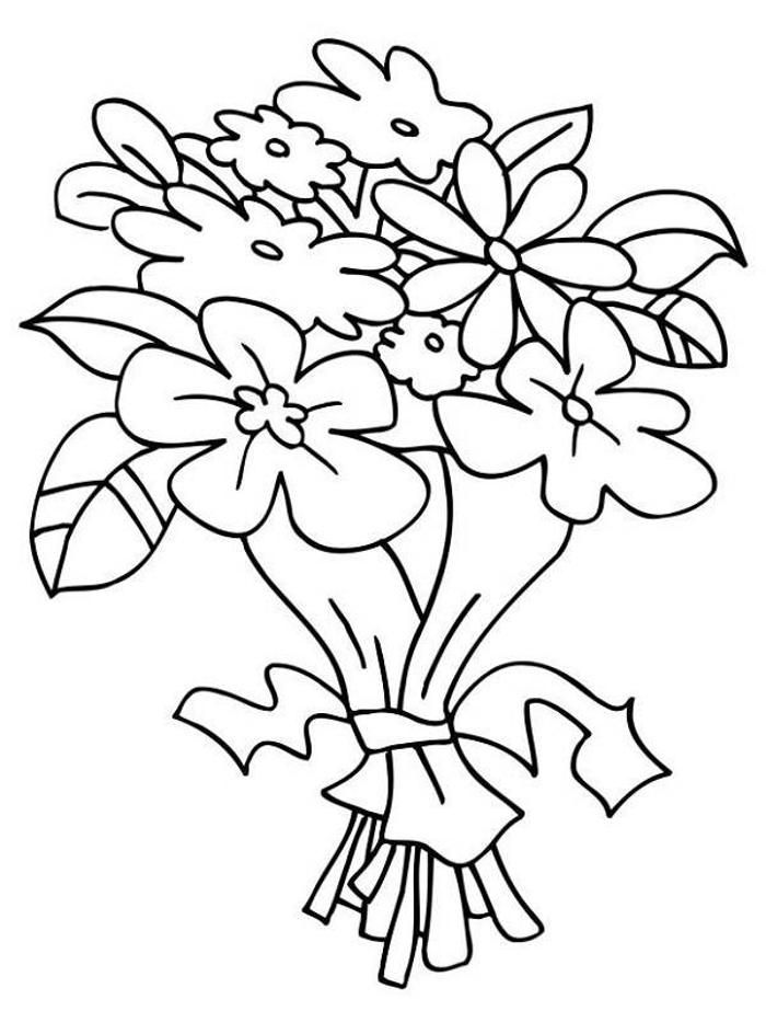 coloring pictures of bouquet of flowers fancy flower bouquet coloring page color luna pictures coloring of of flowers bouquet