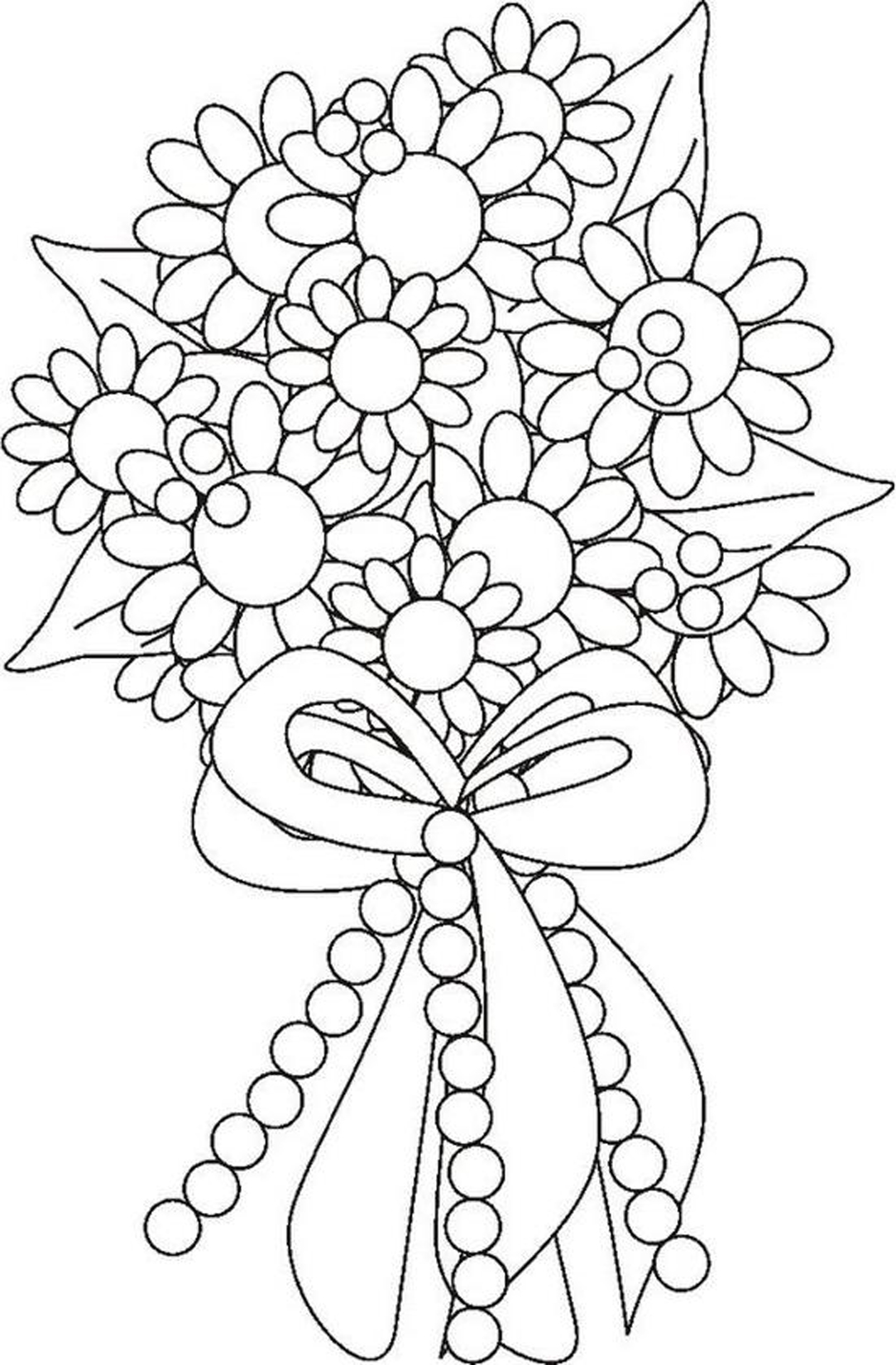 coloring pictures of bouquet of flowers flower bouquet coloring page flickr photo sharing bouquet of pictures coloring flowers of
