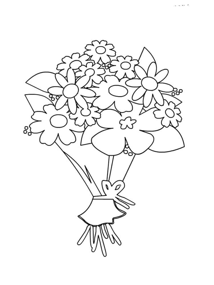 coloring pictures of bouquet of flowers flower bouquet coloring pages download and print flower coloring of of flowers bouquet pictures