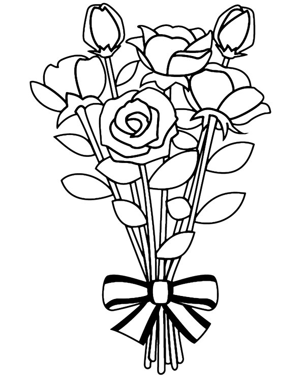 coloring pictures of bouquet of flowers flower bouquet coloring pages download and print flower of pictures flowers bouquet of coloring