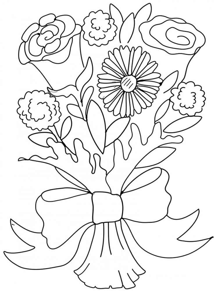 coloring pictures of bouquet of flowers flower bouquet coloring pages download and print flower pictures of of bouquet flowers coloring