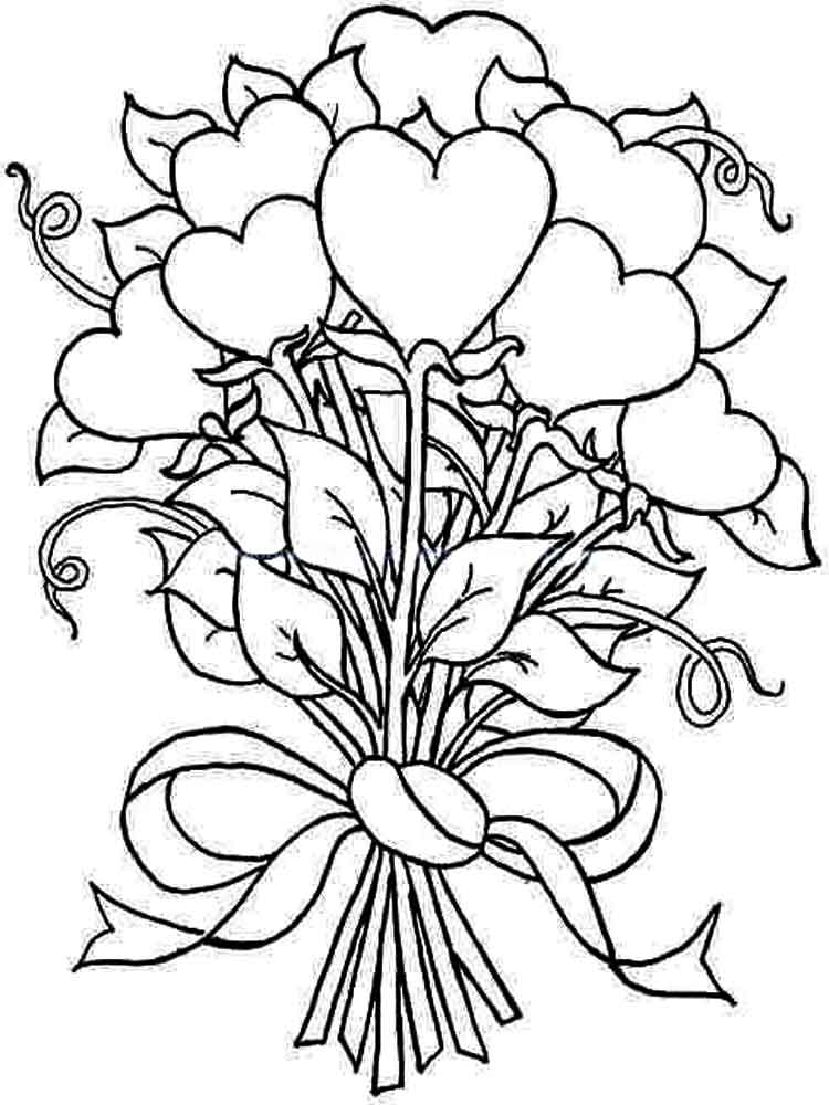 coloring pictures of bouquet of flowers flower coloring pages coloring flowers pictures bouquet of of