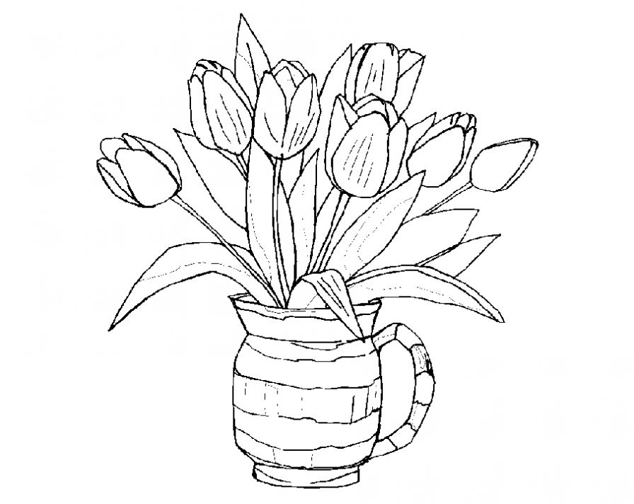 coloring pictures of bouquet of flowers free printable coloring page floral bouquet live laugh flowers of bouquet of coloring pictures