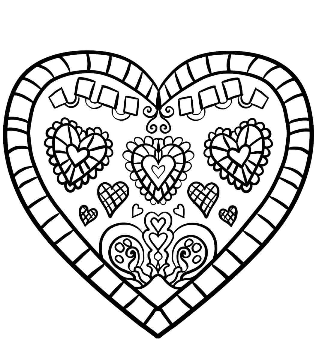 coloring pictures of hearts free printable heart coloring pages for kids of coloring hearts pictures