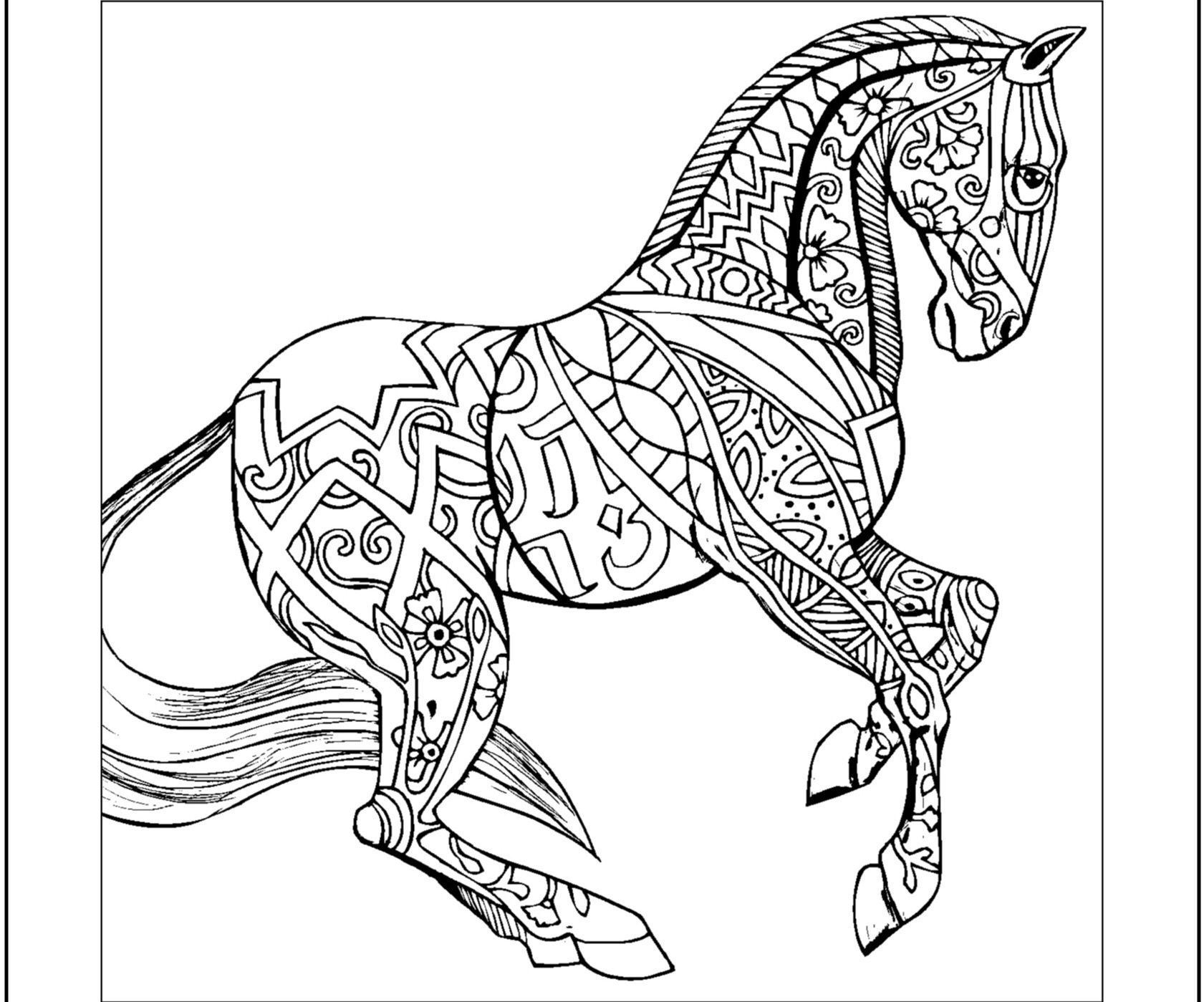 coloring pictures of horse free horse coloring pages pictures coloring of horse