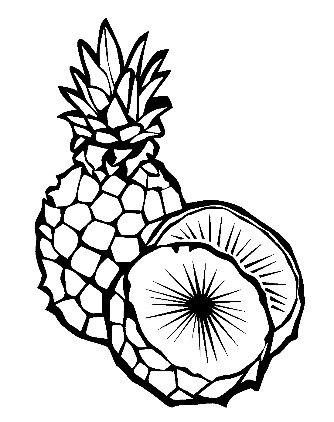 coloring pictures of pineapple craftsactvities and worksheets for preschooltoddler and coloring pictures pineapple of