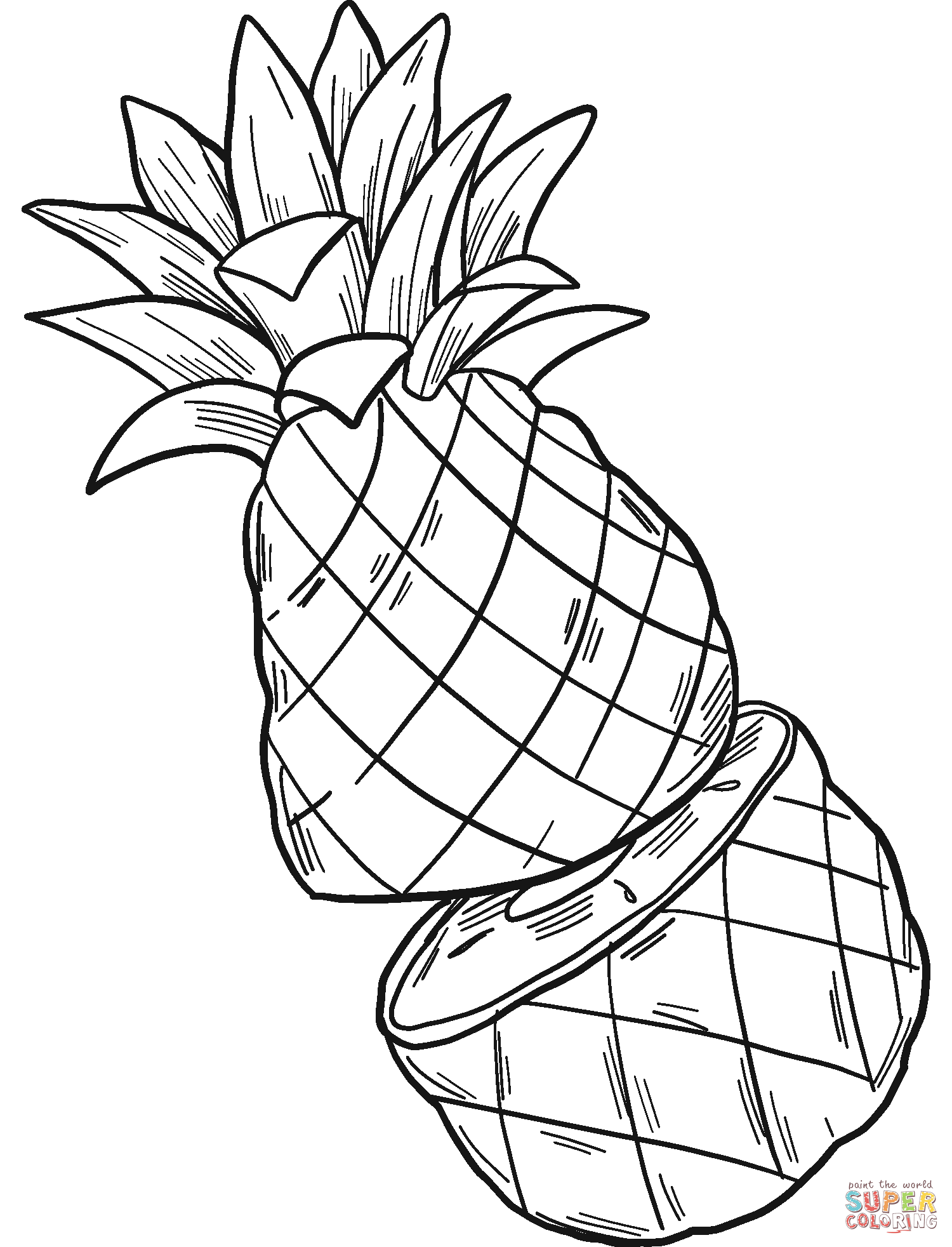 coloring pictures of pineapple free printable pineapple coloring pages for kids pictures of coloring pineapple