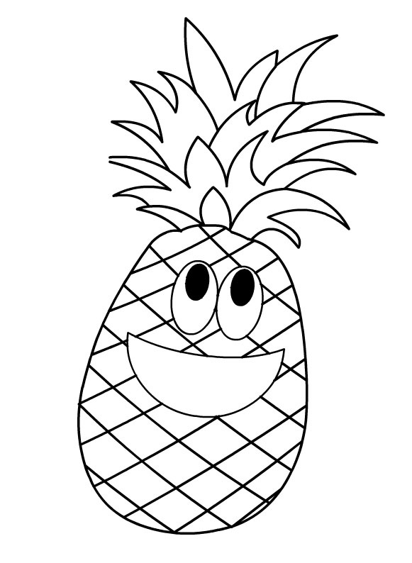 coloring pictures of pineapple pineapple outline free download on clipartmag of pictures pineapple coloring