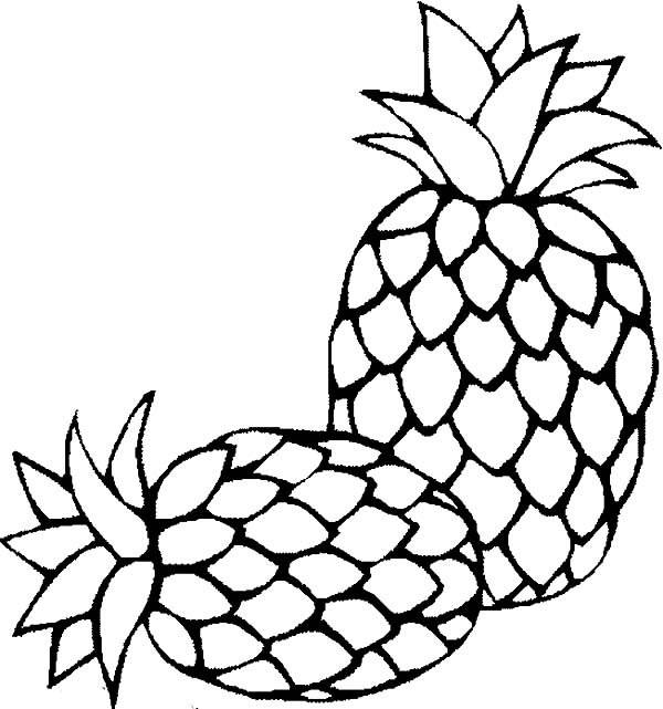 coloring pictures of pineapple printable pineapple coloring pages for kids cool2bkids coloring of pineapple pictures