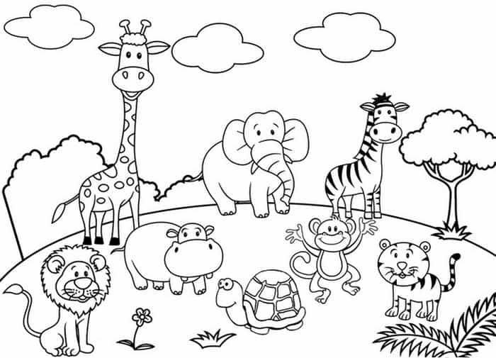 coloring pictures of zoo animals free zoo animals coloring pages pictures of coloring animals zoo