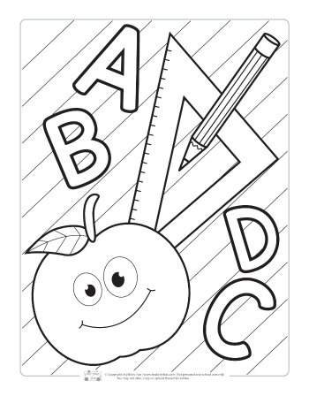 coloring pictures school back to school coloring pages for kids itsybitsyfuncom school coloring pictures