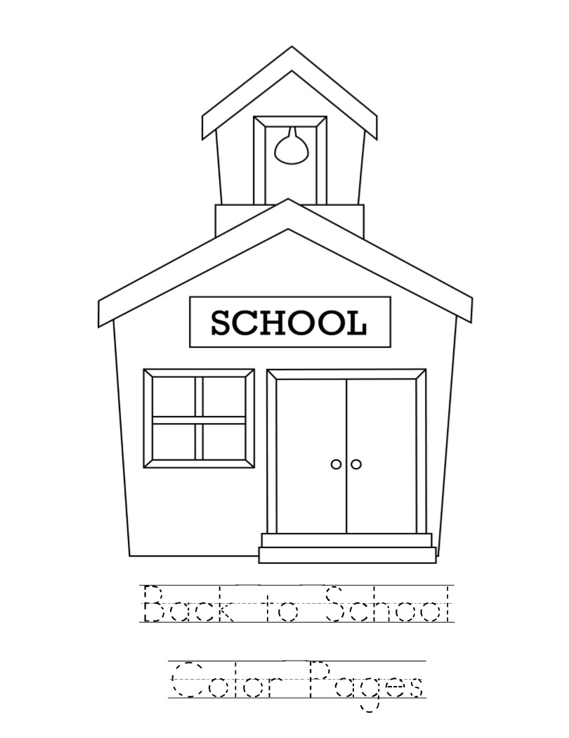 coloring pictures school kid color pages back to school pictures coloring school