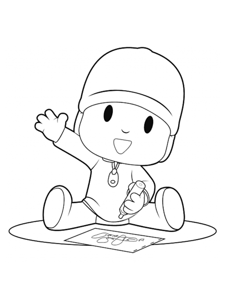 coloring pocoyo printable pocoyo coloring pages for kids cool2bkids coloring pocoyo