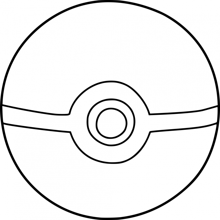 coloring pokemon ball how to draw a great ball from pokemon step by step ball pokemon coloring