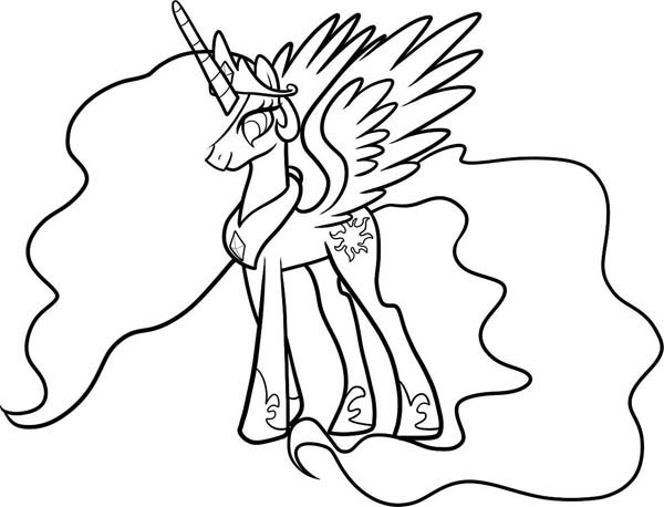 coloring princess celestia how to draw celestia from my little pony coloring page princess coloring celestia