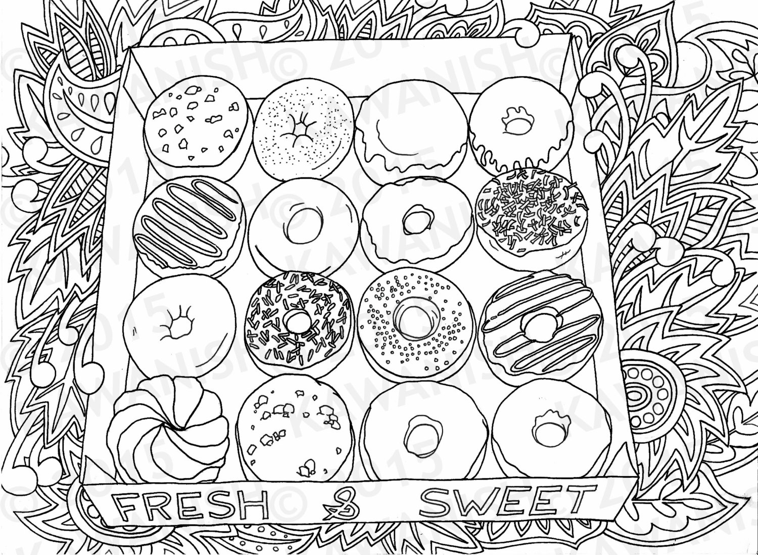 coloring printable donut d39lish donut coloring page to print get coloring pages coloring donut printable