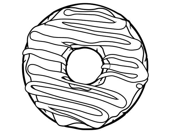 coloring printable donut donut coloring page coloringcrewcom coloring donut printable