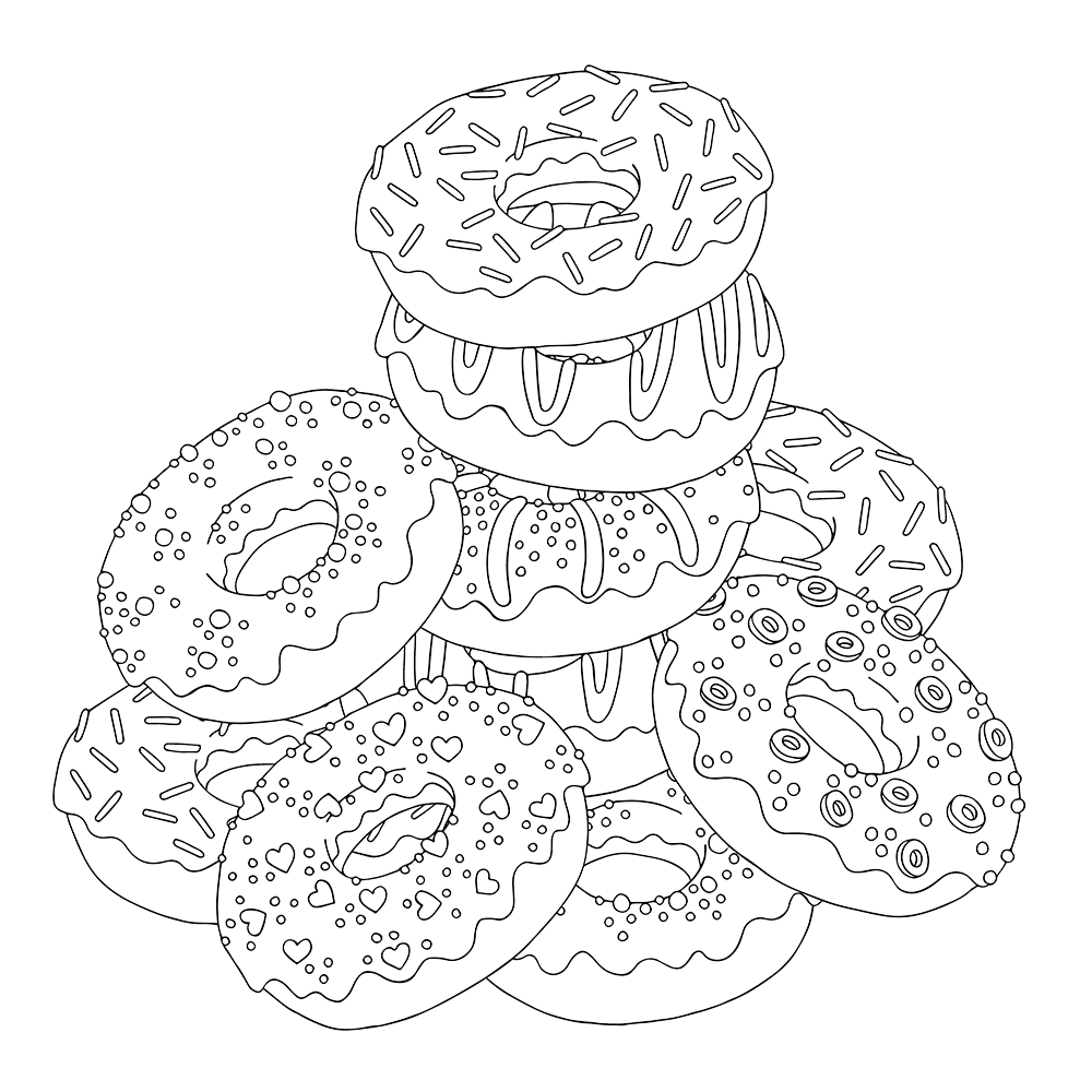 coloring printable donut donut coloring pages coloring home coloring donut printable