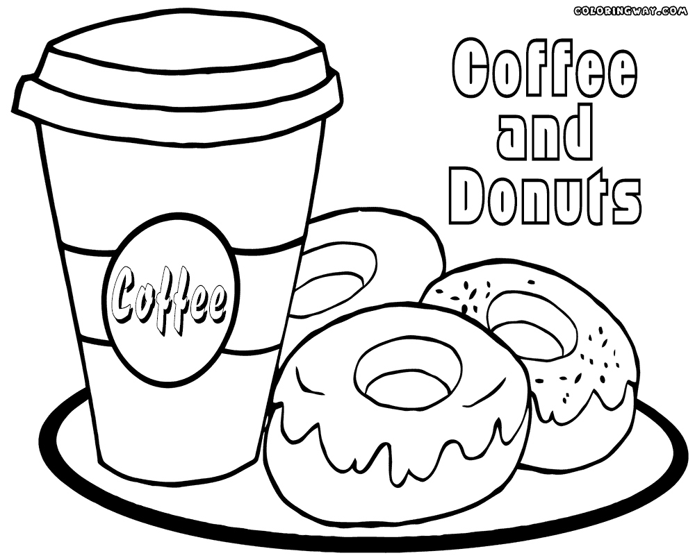 coloring printable donut printable donut coloring pages at getcoloringscom free coloring printable donut