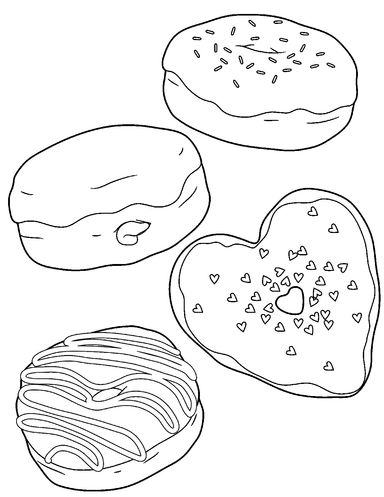 Coloring printable donut