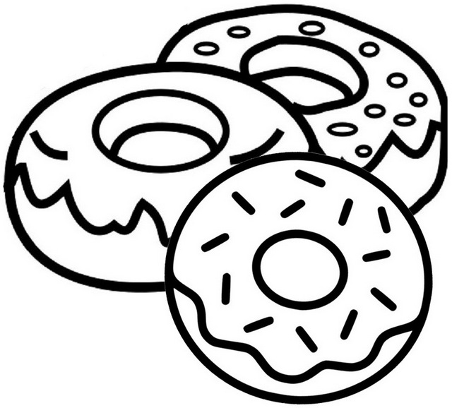 coloring printable donut yummy donut coloring page coloring donut printable