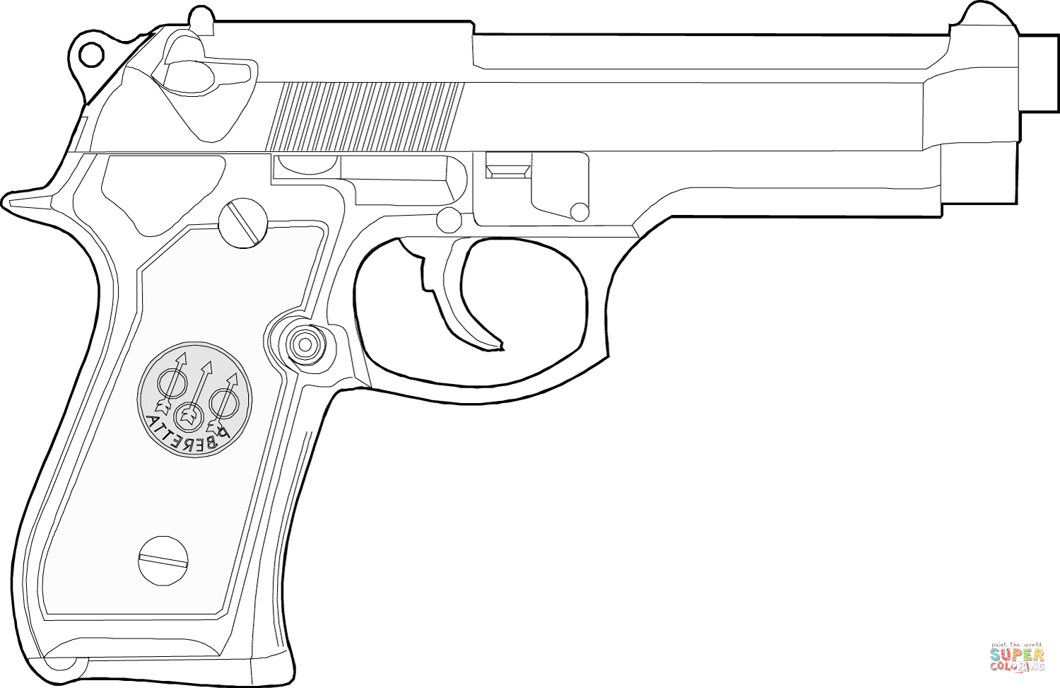 coloring printable gun pistol coloring pages to download and print for free coloring gun printable