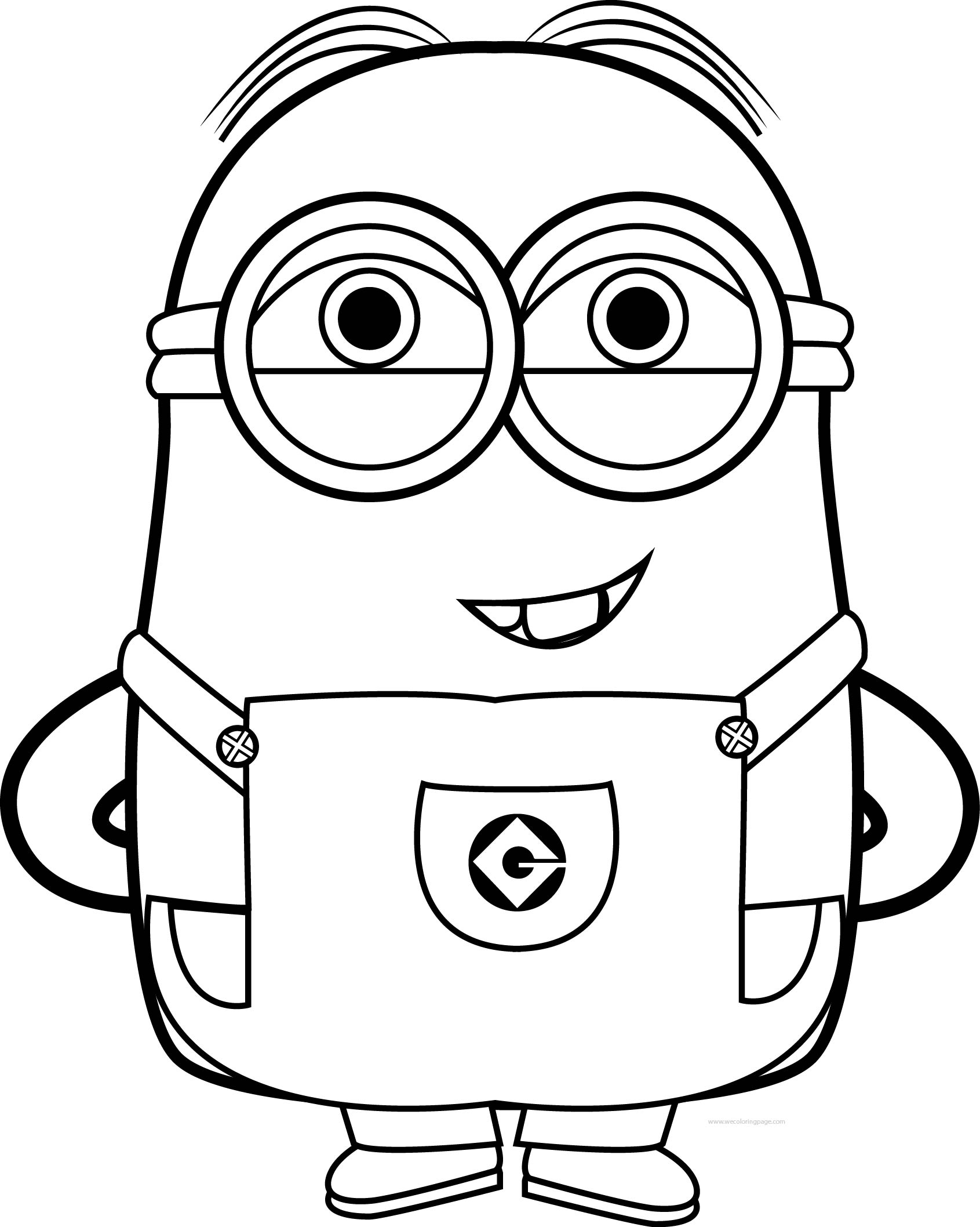 coloring printable minions bob the minion coloring pages at getcoloringscom free coloring minions printable