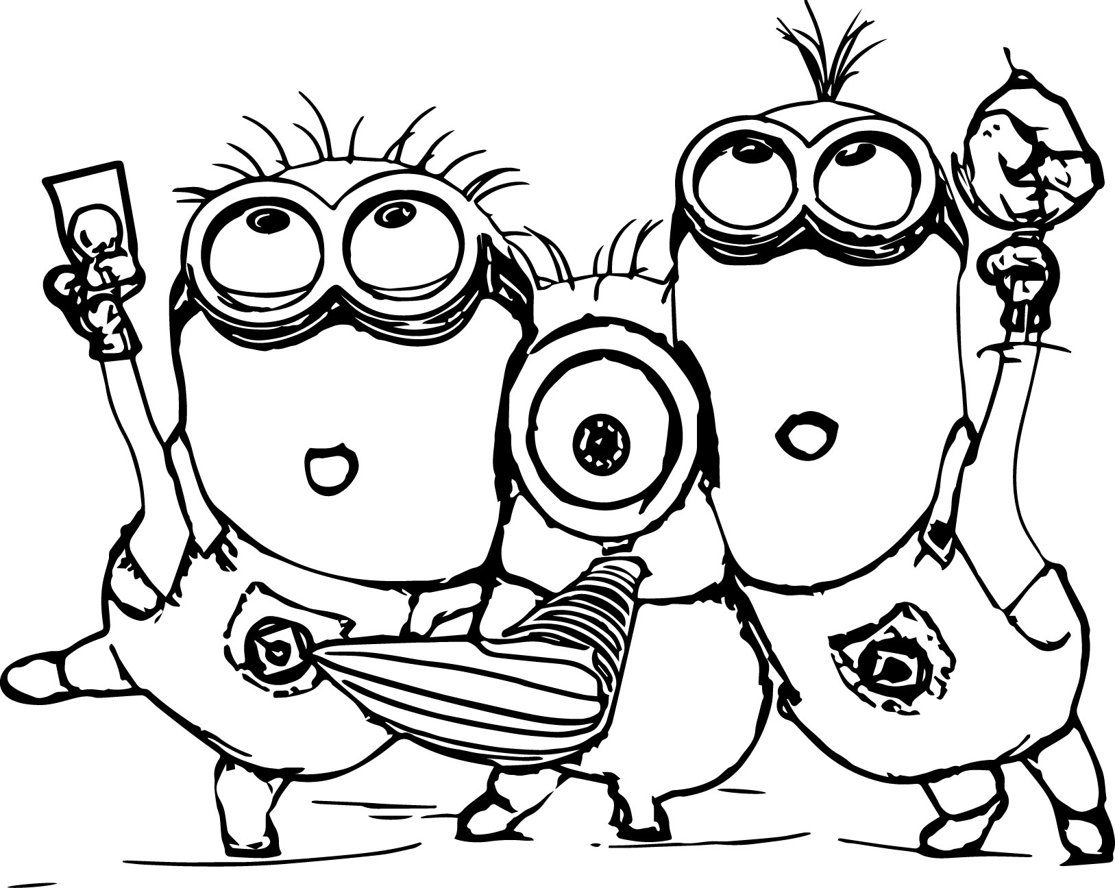 coloring printable minions print download minion coloring pages for kids to have coloring printable minions