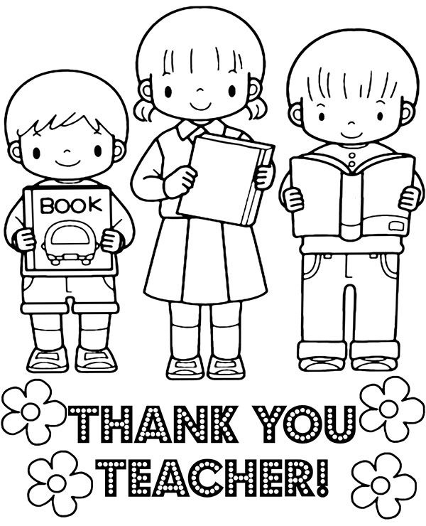 coloring printable thank you card for teacher gift card of thank you teacher happy teachers day card for thank you printable coloring teacher