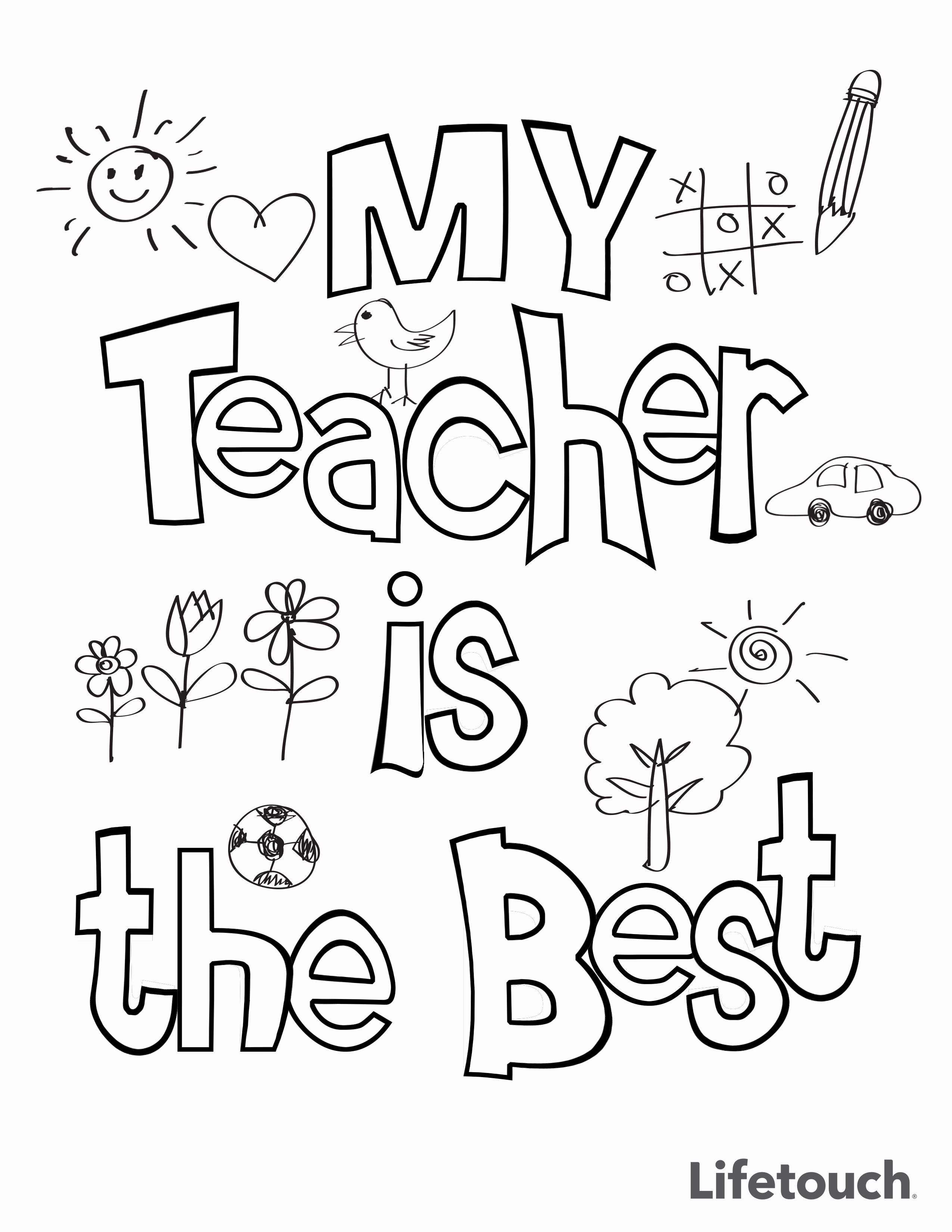 coloring printable thank you card for teacher my teacher is the best doodle coloring page from teacher printable card teacher you thank coloring for
