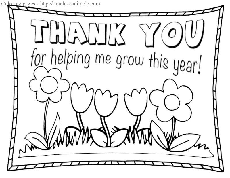 coloring printable thank you card for teacher printable thank you cards to color familyfuncoloring you teacher coloring card for printable thank
