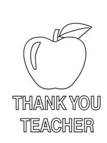coloring printable thank you card for teacher thank you card coloring page at getdrawings free download printable you thank for teacher card coloring