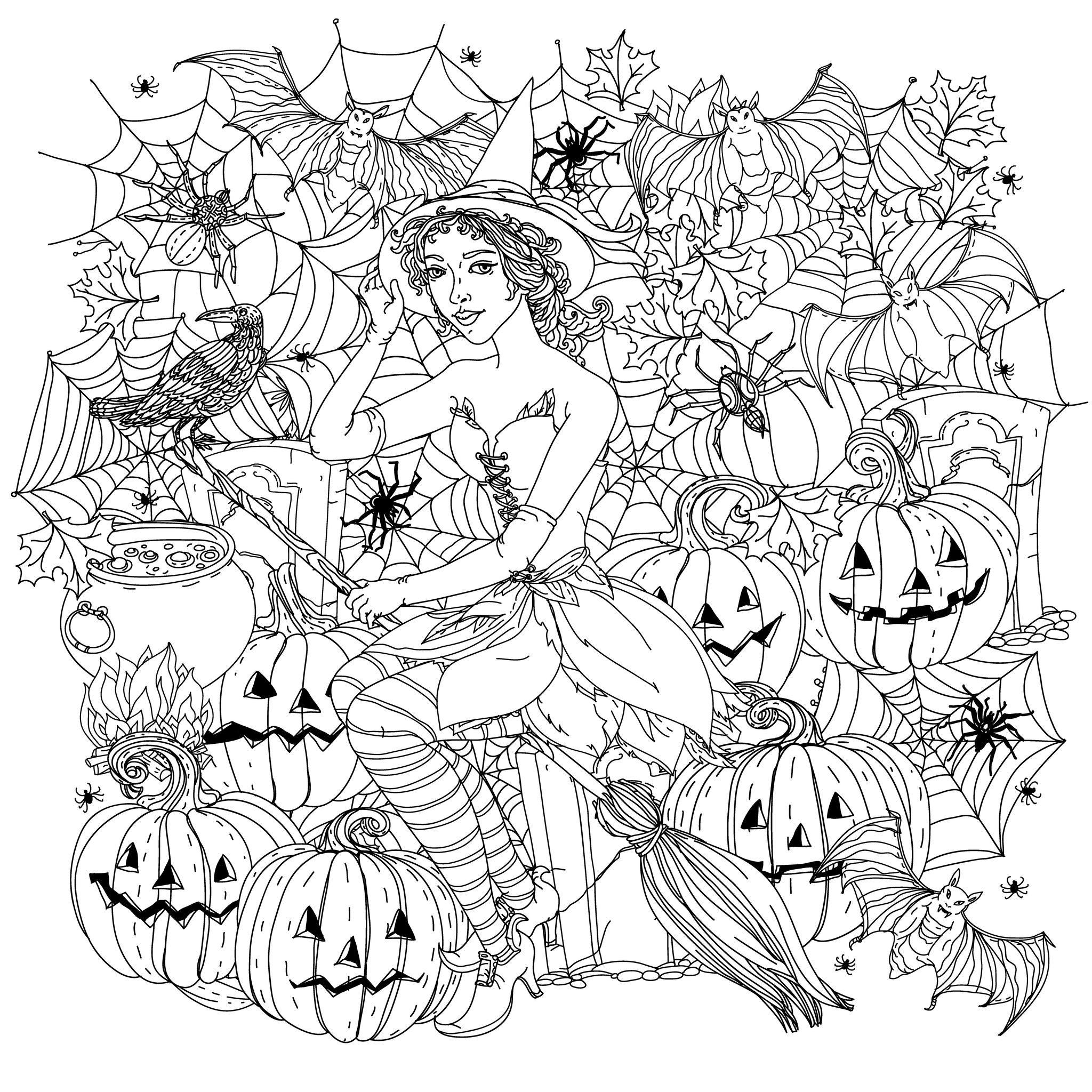 coloring printable witch childrens halloween witch costumes coloring page for witch coloring printable