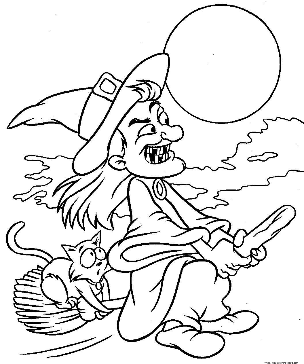 coloring printable witch craftsactvities and worksheets for preschooltoddler and witch coloring printable