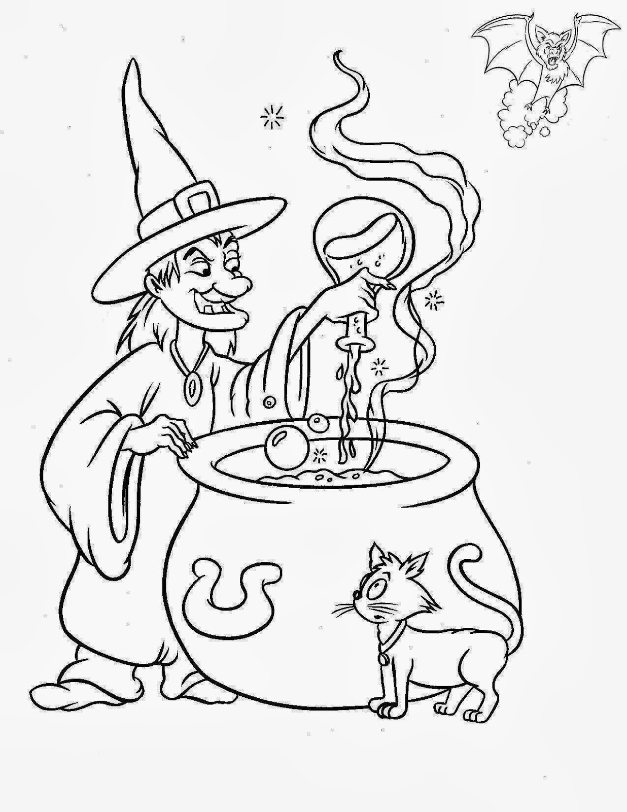 coloring printable witch cute little witch coloring pages for kids halloween witch printable coloring