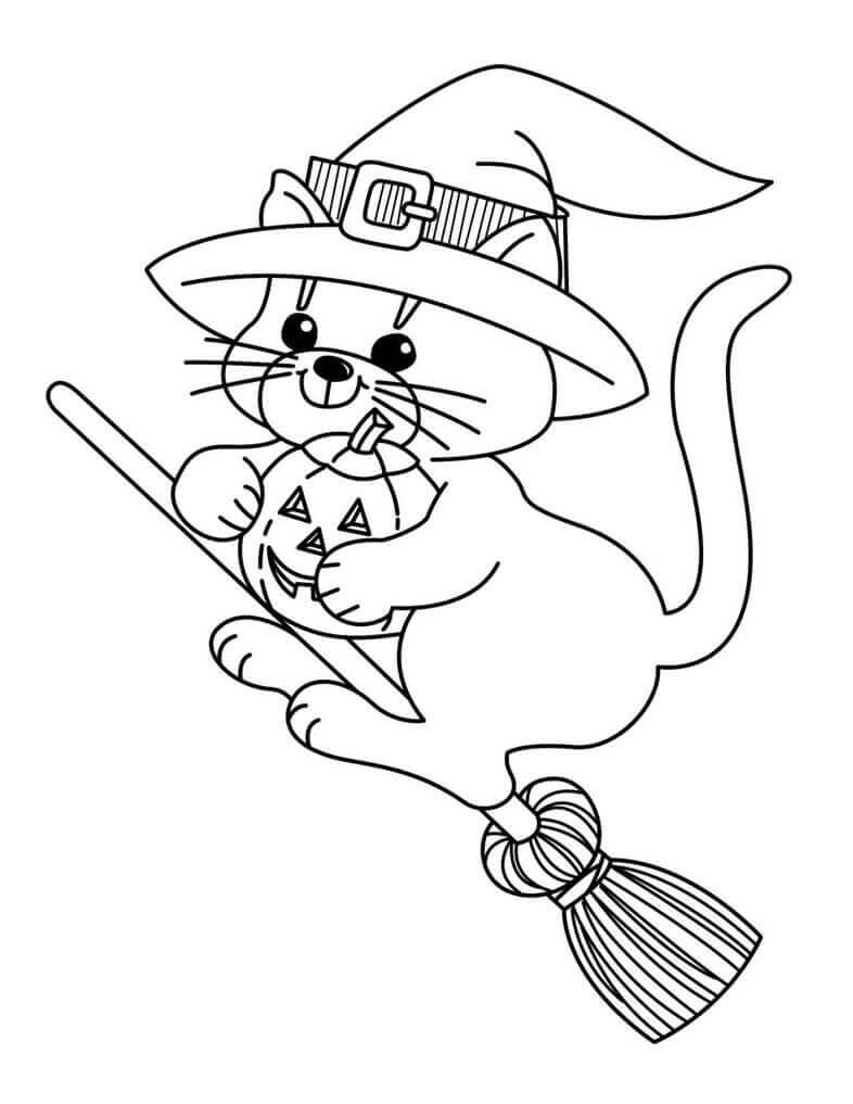 Coloring printable witch