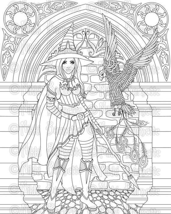 coloring printable witch room on the broom free colouring pages witch coloring printable