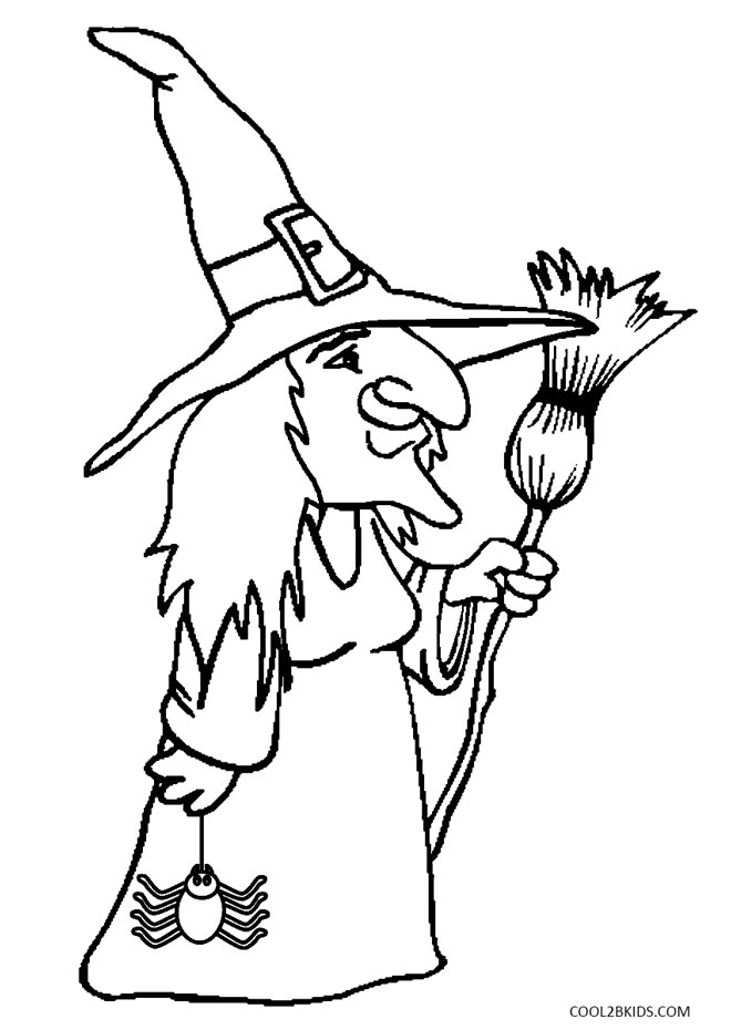 coloring printable witch wicked witch coloring page at getcoloringscom free witch coloring printable