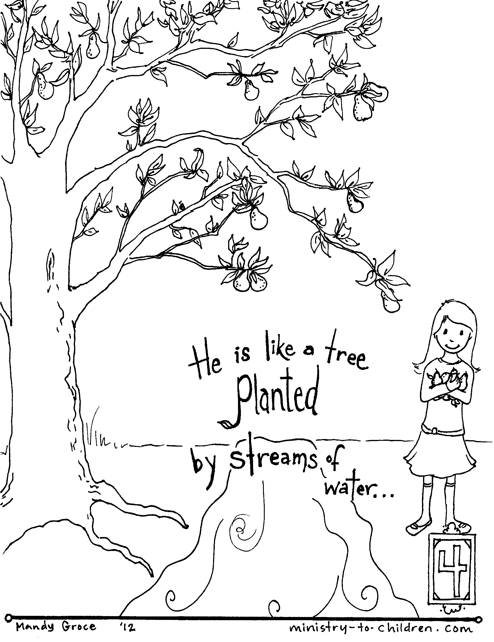 coloring psalm 1 coloring pages for kids by mr adron psalm 1181 coloring psalm coloring 1