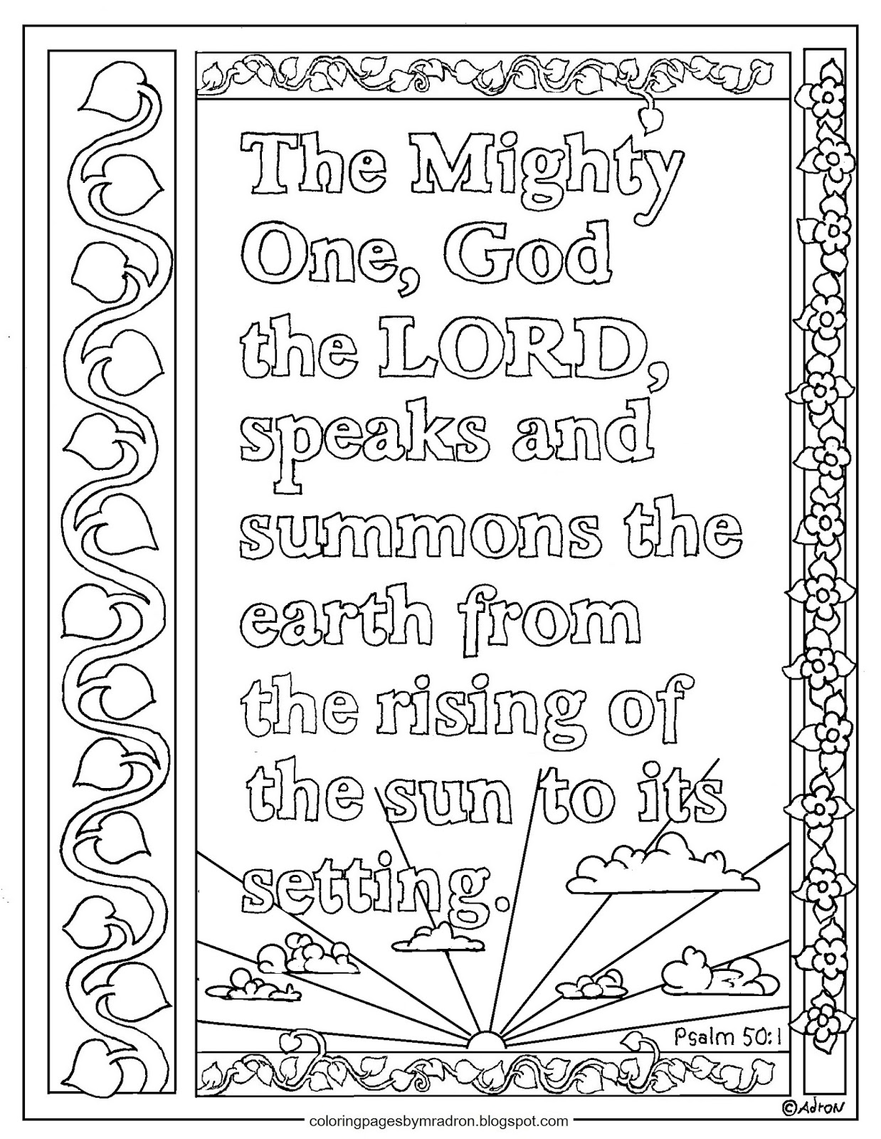 coloring psalm 1 coloring pages for kids by mr adron psalm 501 print and psalm coloring 1