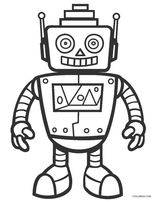 coloring robot pages free printable robot coloring pages for kids cool2bkids pages coloring robot 1 1