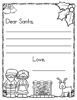 coloring santa letter template free dear santa letter template and countdown to christmas template santa letter coloring