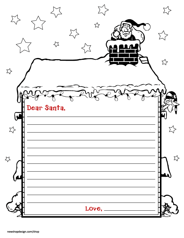 coloring santa letter template free santa letter envelope printable best friends for template letter coloring santa