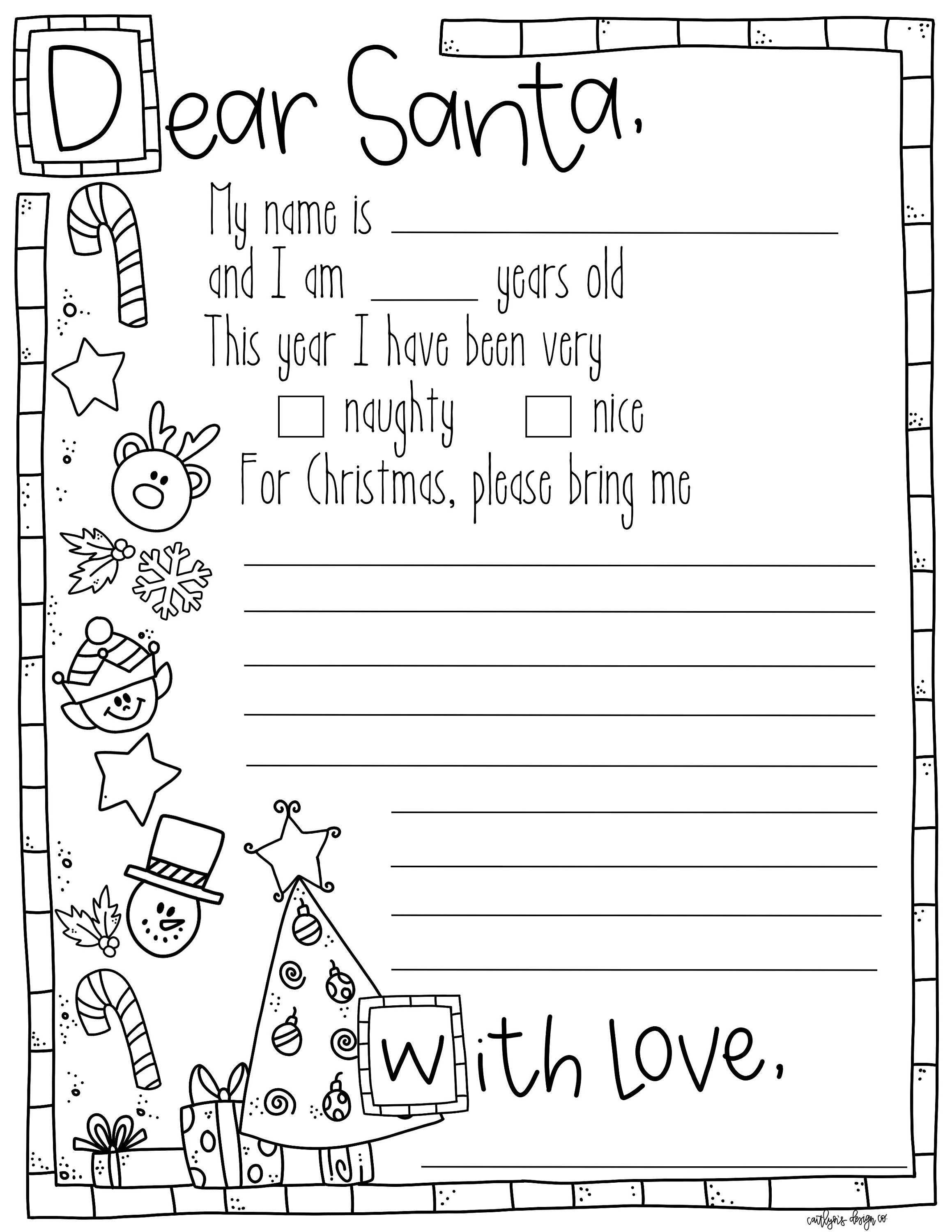 coloring santa letter template santa letter free printable m is for monster santa template coloring letter