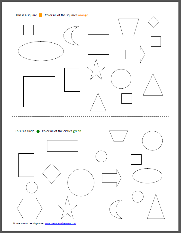 coloring shapes and make pictures of shapes my color the shapes book mamas learning corner and shapes pictures of shapes make coloring
