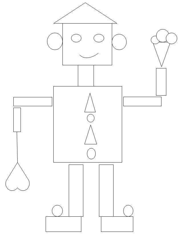 coloring shapes and make pictures of shapes robot shapes coloring page preschool and homeschool pictures make shapes coloring shapes of and