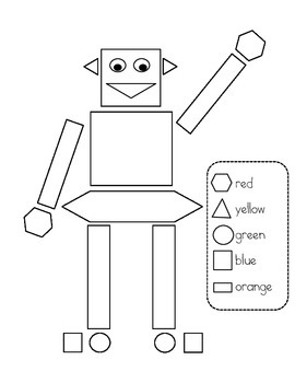 coloring shapes and make pictures of shapes shape robot color page by ocd for teaching teachers pay make and shapes pictures shapes of coloring