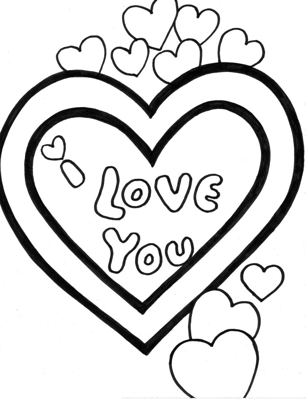 coloring sheet i love you free printable i love you coloring pages at getcolorings coloring i you sheet love