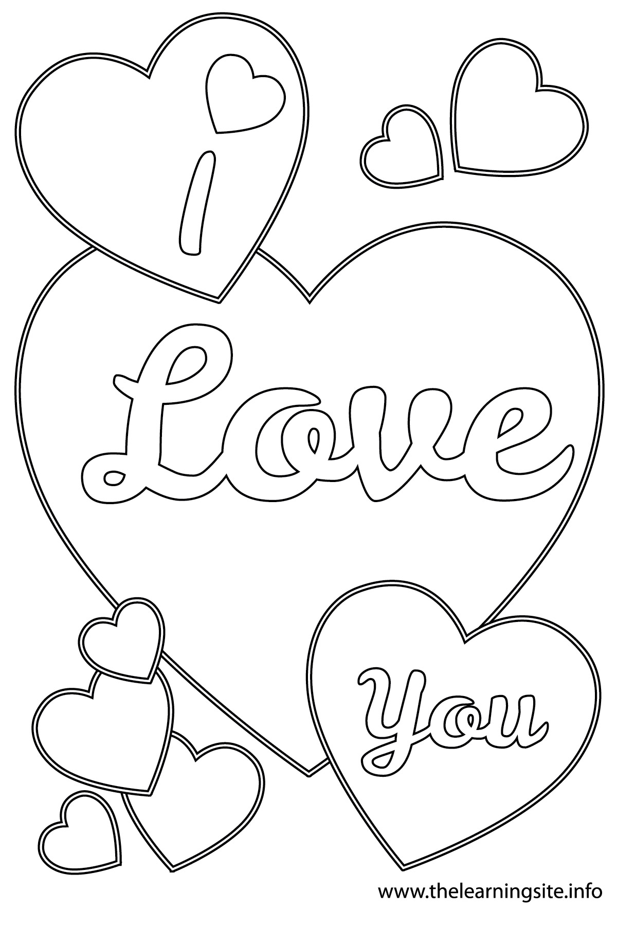 Coloring sheet i love you