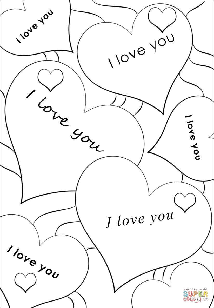 coloring sheet i love you i love you coloring page vector illustration stock i you sheet coloring love